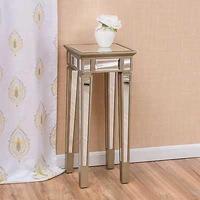 Contemporary Silver Vintage Mirror End Table - eBay