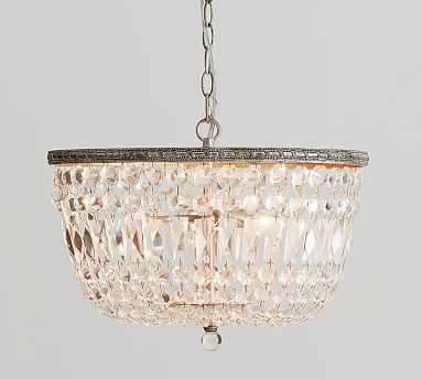 Charlotte Autumnal Crystal Chandelier , Antique Brass - Pottery Barn