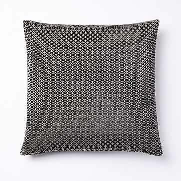 """Honeycomb Velvet Velvet Pillow Cover, 18""""x18"""", Charcoal - West Elm"""