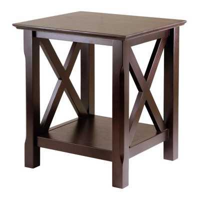 Xola Cappuccino End Table - Home Depot