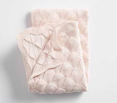 Bubble Knit Baby Blanket , Blush - Pottery Barn Kids