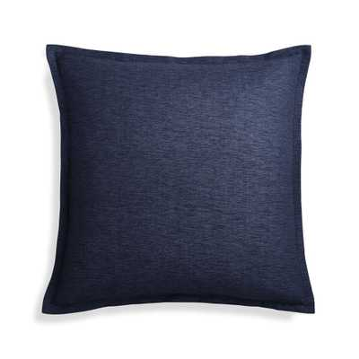 "Linden Cobalt 23"" Pillow Cover - Crate and Barrel"
