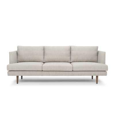 """Venga Mole Light Gray Celeste 1.5"""" Recessed Arm Sofa - Wayfair"""