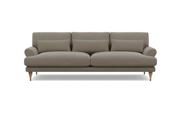 Maxwell Sofa with Oyster Fabric and White Oak with Antique Cap legs - Interior Define