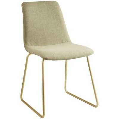 ACME Mimosa Accent Desk Chair in Light Green and Gold - eBay