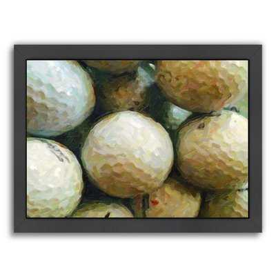 'Golf Balls' by Grafittee Studios Framed Graphic Art - Wayfair