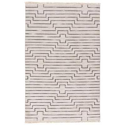 Solids/Handloom Vaporous Gray 8 ft. x 11 ft. Geometric Area Rug - Home Depot