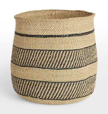 Iringa Basket - Black Stripe - Rejuvenation