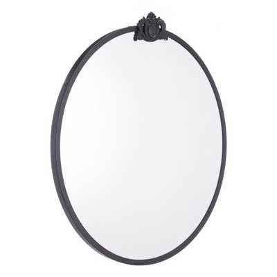 Empire Round Black Wall Mirror - Home Depot