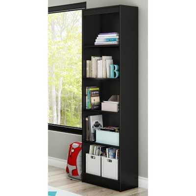 Axess 5-Shelf Pure Black Bookcase - Home Depot