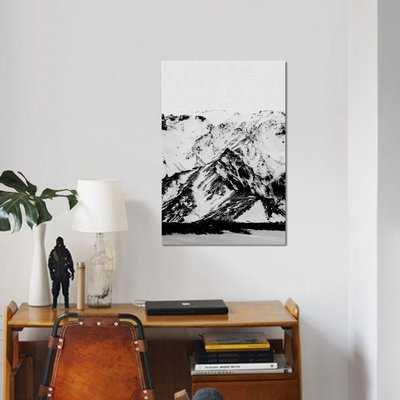 'Minimalist Mountains' Graphic Art Print on Canvas - Wayfair