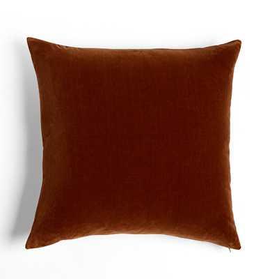 Italian Velvet Pillow Cover - Walnut - Rejuvenation