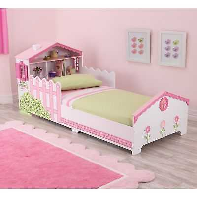 Dollhouse Pink and White Toddler Bed - eBay