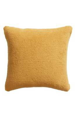 Nordstrom At Home Faux Shearling Accent Pillow, Size One Size - Yellow - Nordstrom