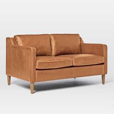 """Hamilton 70"""" Charme Leather Sofa, Burnt Sienna - West Elm"""