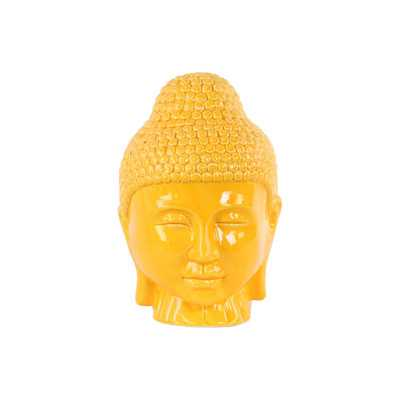 Ceramic Buddha Head Bust - Wayfair