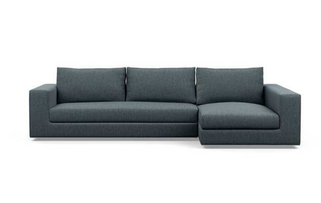 Walters Chaise Sectional with Rain Fabric, and Bench Cushion - Interior Define