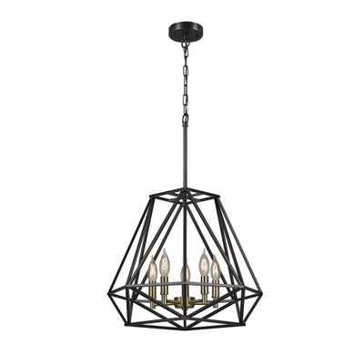 Globe Electric Sansa 5-Light Dark Bronze Chandelier - Home Depot