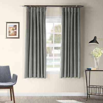 Albert Velvet Solid Blackout Thermal Rod Pocket Single Curtain Panel - AllModern