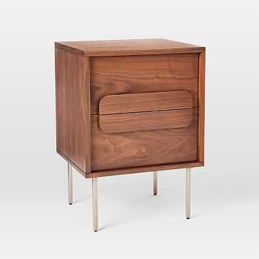 Gemini Nightstand, Walnut-Individual - West Elm