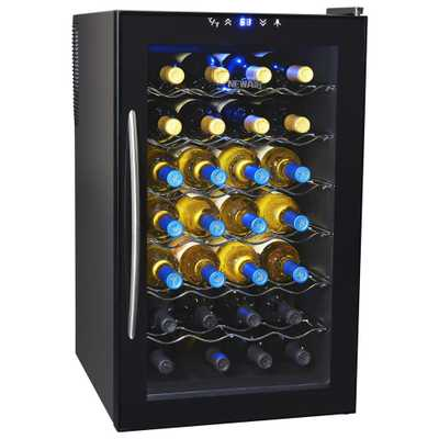 NewAir 28-Bottle Thermoelectric Wine Cooler, Black - Home Depot