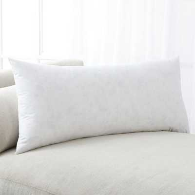 "Feather-Down Pillow Insert 36""x16"" - Crate and Barrel"