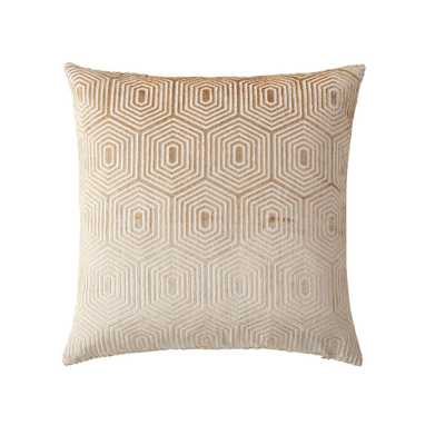 Morgan Home 18 in. Harper Gold Geometric Throw Pillow Cover - Home Depot