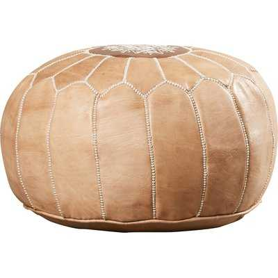 Carolos Leather Pouf - Wayfair