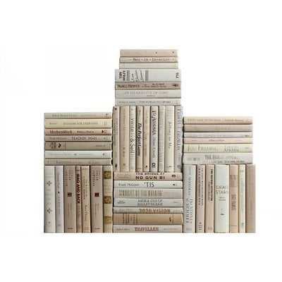 Authentic Decorative Books - By Color Modern Beach Book Wall, Set of 50 (5 Linear Feet) - Wayfair