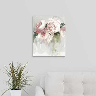 Peonies by Asia Jensen Canvas Wall Art, Multi-Color - Home Depot