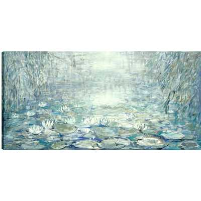 Images 2000 30 in. x 60 in. Lily Pads Printed Canvas Wall Art, Gel Coated - Home Depot