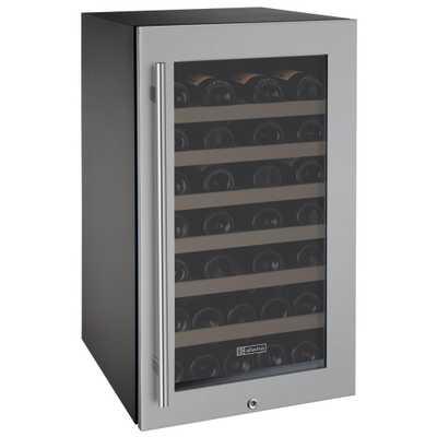 Allavino Single Zone 43-Bottle Wine Cooler, Black/Silver - Home Depot