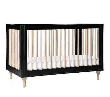 Babyletto Lolly 3-In-1 Convertible Crib, Black/Washed Natural, Standard UPS Delivery - Pottery Barn Kids