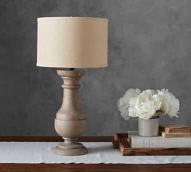 Finn Turned Wood Table Lamp Base - Pottery Barn