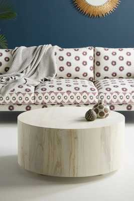 Swirled Drum Coffee Table, Small - Anthropologie