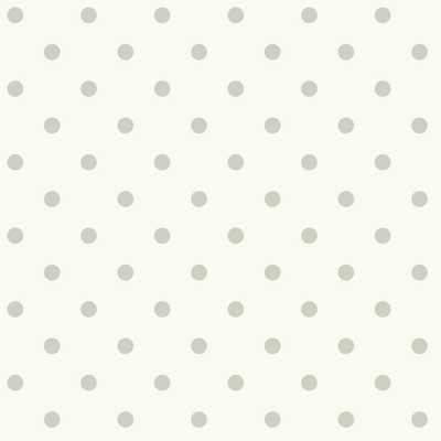 Dots on Dots Removable Wallpaper, Gray/White - Home Depot