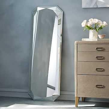 Faceted Floor Mirror, Emerald Cut - West Elm