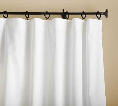 "Cameron Cotton Pole Pocket Drape, 50 x 108"", White - Pottery Barn"