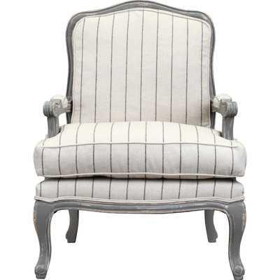 Armchair in Distressed Gray - Wayfair