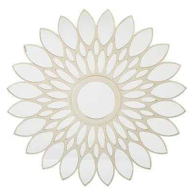 Inlayed Gold Framed Sun Flower Wall Mirror - Wayfair