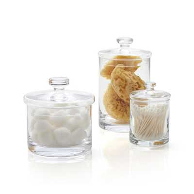 Set of 3 Glass Canisters - Crate and Barrel