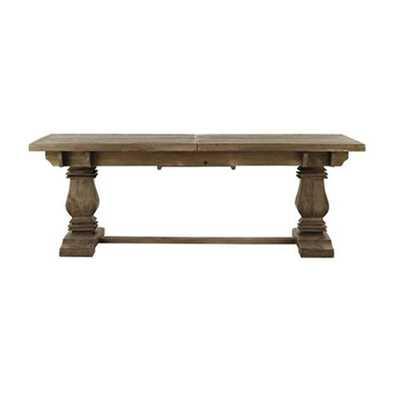 Aldridge Antique Grey Extendable Dining Table - Home Depot