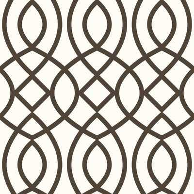 Trellis Woven Geometric Panel 102'' H x 26'' W Wallpaper - Birch Lane