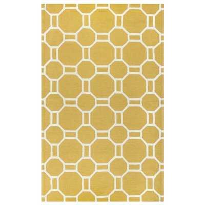 Evangeline Hand-Tufted Gold Indoor/Outdoor Area Rug - Wayfair