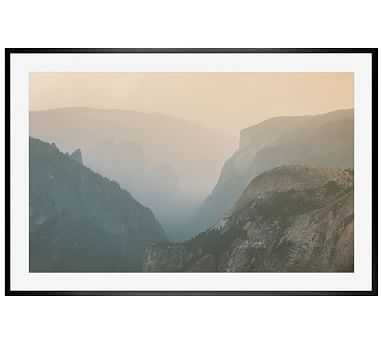 "Yosemite at Last Light Framed Print By Camrin Dengel, 28x42"", Wood Gallery Frame, Black, Mat - Pottery Barn"