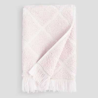 Blush Diamond Sculpted Florentina - Hand Towel - World Market/Cost Plus