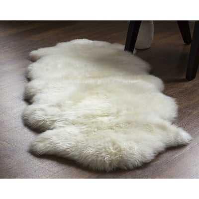 Machin Handmade Shag Sheepskin Ivory Area Rug - Wayfair