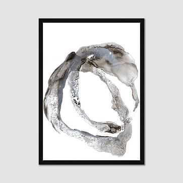 "Framed Print, Gray Paintstroke, I, 20""x28"" - West Elm"