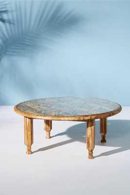Carved Teak Indoor/Outdoor Coffee Table - Anthropologie