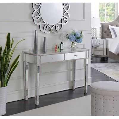 Convenience Concepts Gold Coast Desk Vanity, White/Mirror - 413372WW - eBay